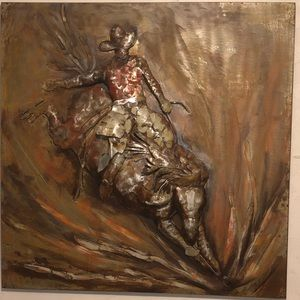 Trinity Ranch Montana West 3D Metal Bronc Rider